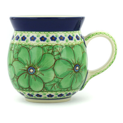 Polish Pottery Bubble Mug 16 oz Key Lime Dreams UNIKAT