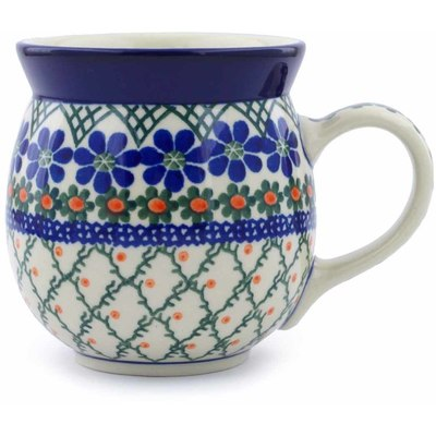 Polish Pottery Bubble Mug 16 oz Primrose Trellis