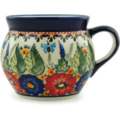 Polish Pottery Bubble Mug 16 oz Spring Splendor UNIKAT