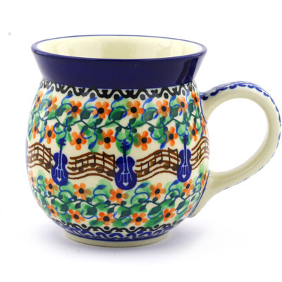Polish Pottery Bubble Mug 16 oz Summer Song UNIKAT