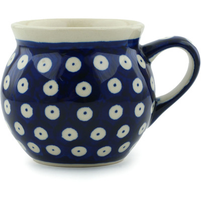 Polish Pottery Bubble Mug 7 oz Blue Eyes