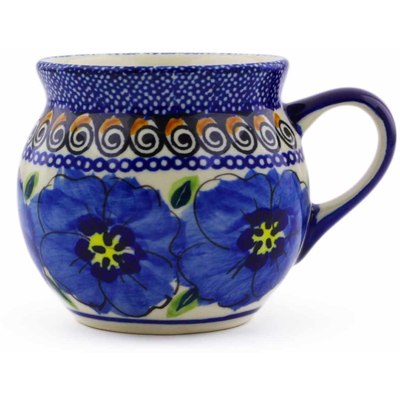 Polish Pottery Bubble Mug 7 oz Regal Bouquet UNIKAT