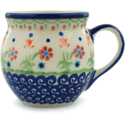 Polish Pottery Bubble Mug 7 oz Spring Flowers