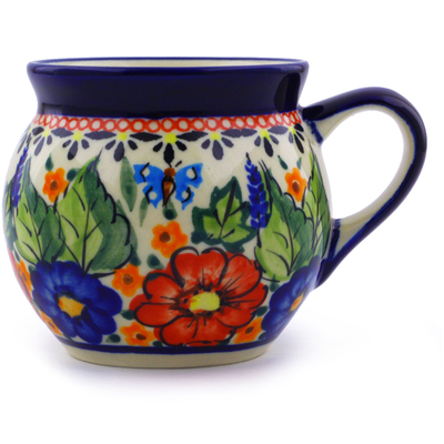 Polish Pottery Bubble Mug 7 oz Spring Splendor UNIKAT