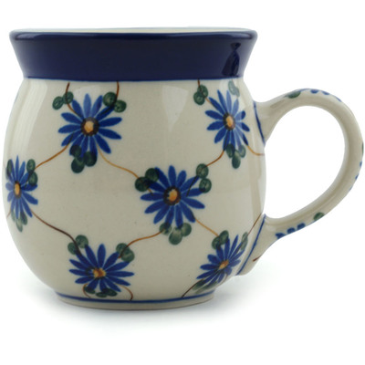 Polish Pottery Bubble Mug 8 oz Aster Trellis