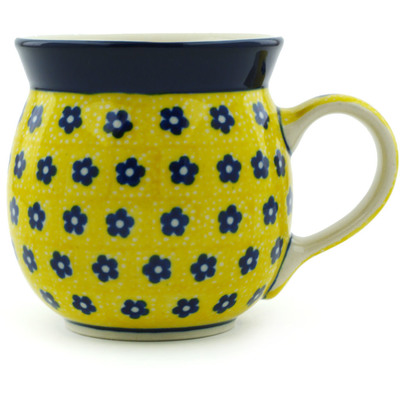Polish Pottery Bubble Mug 8 oz Sunshine