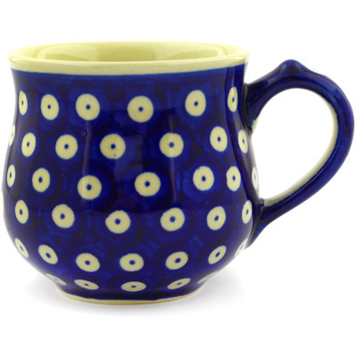 Polish Pottery Bubble Mug Small Blue Eyes