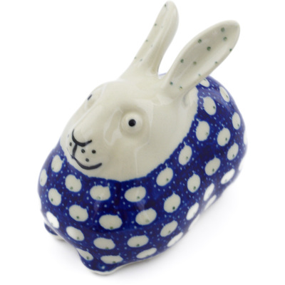 "Polish Pottery Bunny Figurine 4"" Stepping Stones"