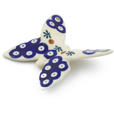 "Polish Pottery Butterfly Figurine 4"" Mosquito"