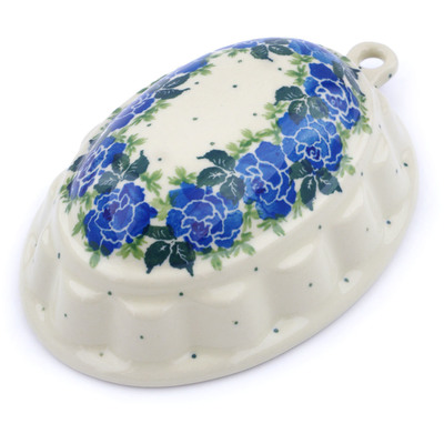 "Polish Pottery Cake Mould 7"" Floral Spring"