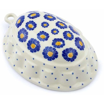 "Polish Pottery Cake Mould 7"" Flower Pads"