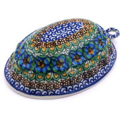 "Polish Pottery Cake Mould 7"" Mardi Gra UNIKAT"