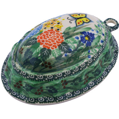 "Polish Pottery Cake Mould 7"" Spring Garden UNIKAT"