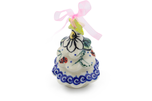 This Polish Pottery Christmas Tree Ornament Item Number H4516j Is Made By Vena Factory In Boleslawiec Poland It 3 4 High And Measures 2