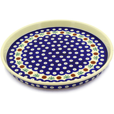 "Polish Pottery Cookie Platter 9"" Mosquito"