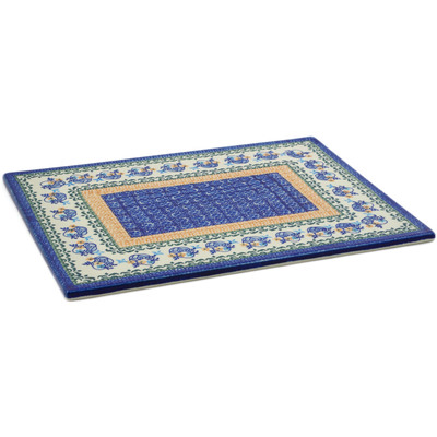 "Polish Pottery Cookie Sheet 15"" Royal Stitches UNIKAT"