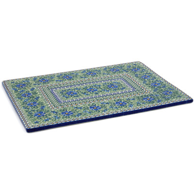 "Polish Pottery Cookie Sheet 15"" Wild Diamonds UNIKAT"