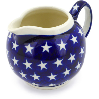 Polish Pottery Creamer 10 oz America The Beautiful