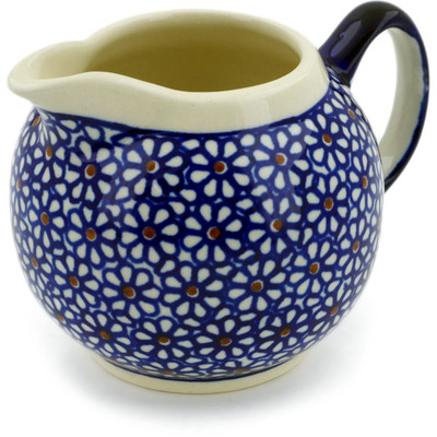 Polish Pottery Creamer 10 oz Daisy Dreams