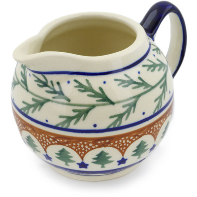 Polish Pottery Creamer 10 oz Pine Boughs