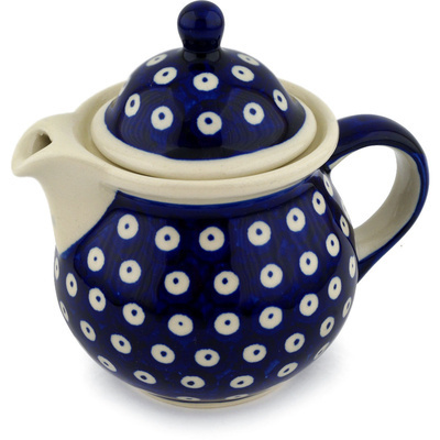 Polish Pottery Creamer 12 oz Blue Eyes