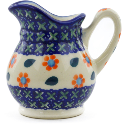 Polish Pottery Creamer 4 oz Daisy Stitches