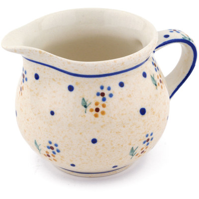 Polish Pottery Creamer 8 oz Country Meadow