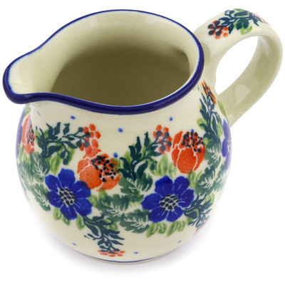 Polish Pottery Creamer Small Polish Wreath