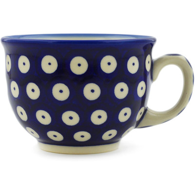 Polish Pottery Cup 10 oz Blue Eyed Peacock