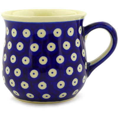 Polish Pottery Cup 10 oz Blue Eyes