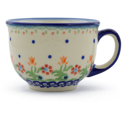 Polish Pottery Cup 10 oz Spring Flowers