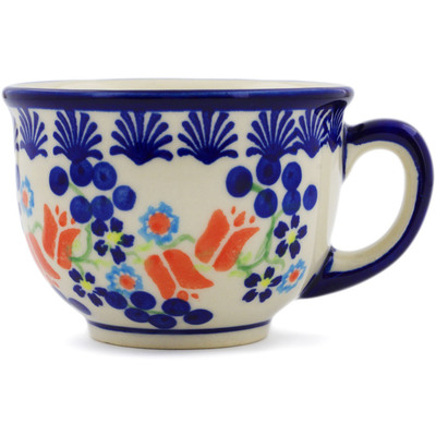Polish Pottery Cup 10 oz Tulip Berries