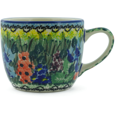 Polish Pottery Cup 7 oz Splendid Meadow UNIKAT