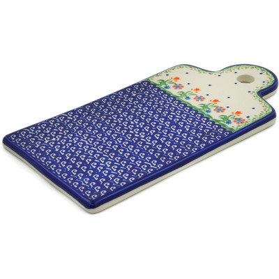 "Polish Pottery Cutting Board 11"" Spring Flowers"