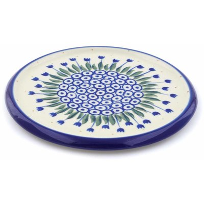 "Polish Pottery Cutting Board 7"" Water Tulip"