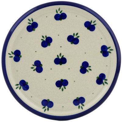 "Polish Pottery Cutting Board 7"" Wild Blueberry"