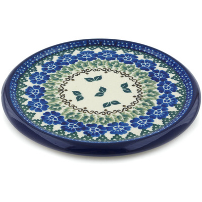 "Polish Pottery Cutting Board 7"" Wondering Leaves"