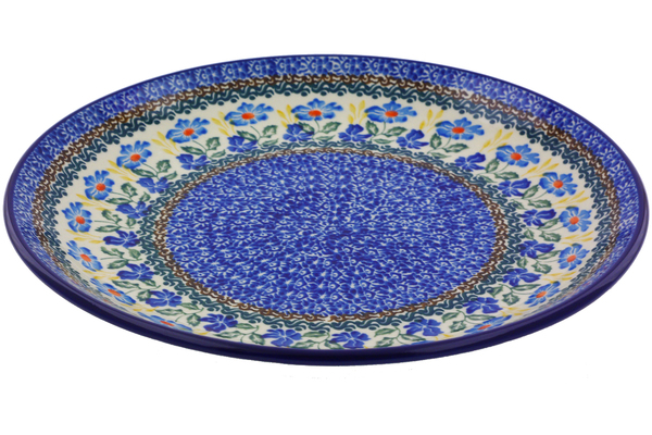 sc 1 st  Polmedia Polish Pottery & Dinner Plate 10½-inch Blue Forget-me-nots