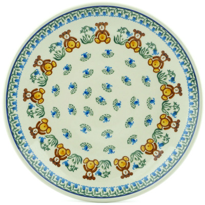 Polish Pottery Dinner Plate 10½-inch Brown Bears