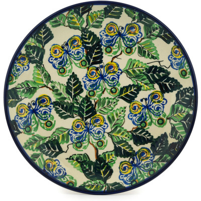 Polish Pottery Dinner Plate 10½-inch Butterleaf UNIKAT
