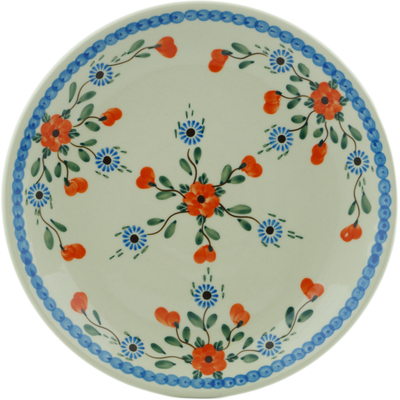 Polish Pottery Dinner Plate 10½-inch Cherry Blossoms