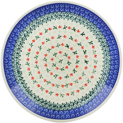 Polish Pottery Dinner Plate 10½-inch Circle Of Delicacy