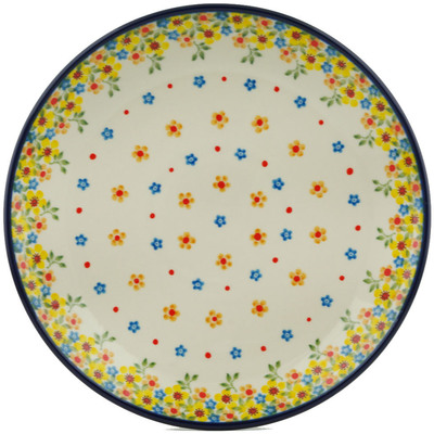 Polish Pottery Dinner Plate 10½-inch Country Spring