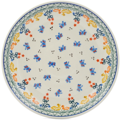 Polish Pottery Dinner Plate 10½-inch Duck Duck Goose