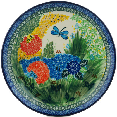 Polish Pottery Dinner Plate 10½-inch Garden Delight UNIKAT