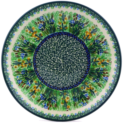 Polish Pottery Dinner Plate 10½-inch Green Pasture UNIKAT