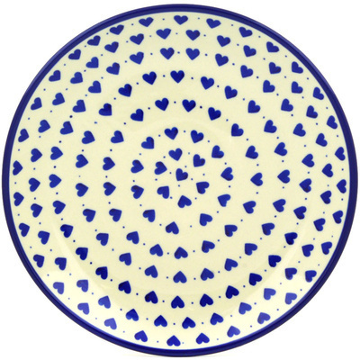 Polish Pottery Dinner Plate 10½-inch Hearts Delight