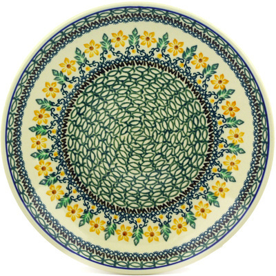 Polish Pottery Dinner Plate 10½-inch Morning Blossoms