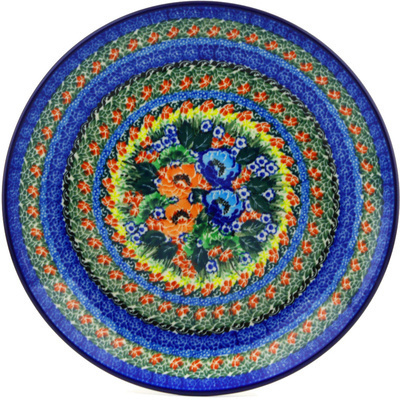 Polish Pottery Dinner Plate 10½-inch Passion Meadow UNIKAT