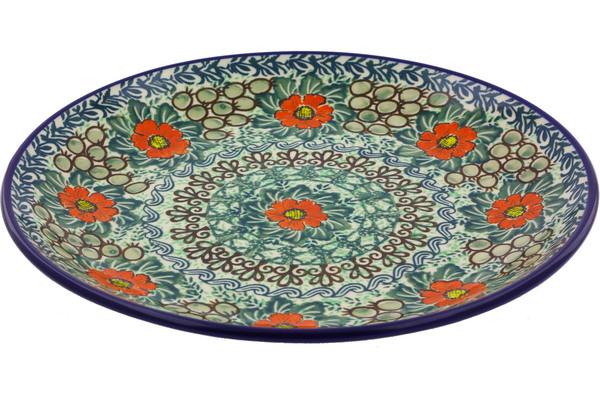 Dinner Plate 10½-inch Red Poppy Flower UNIKAT